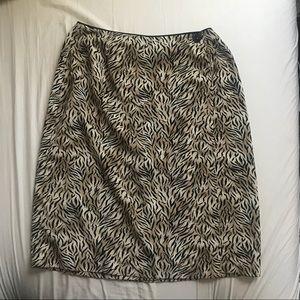 Tiger print wrap skirt